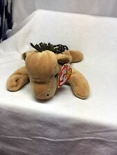 Retired TY Beanie Baby - Derby The horse - Swing Tag Error - No Spot Course Mane