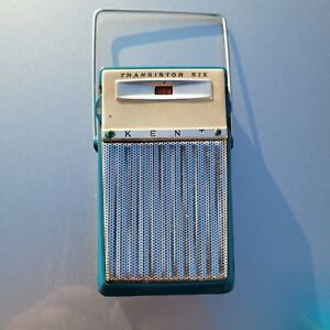 Vintage Kent Transistor 605 Radio...old..been In Storage..with Case..sold As Is