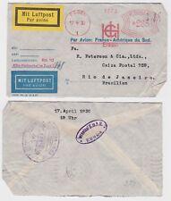 82072 seltener Luftpostbrief Brasilien Rio de Janeiro 1930