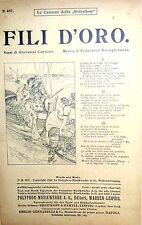SPARTITO FILI D'ORO ( CANZONI DELLA POLYPHON  ) E. GENNARELLI NAPOLI ANNO 1912