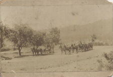 1899 PHOTOGRAPH OF HORSE DRAWN STAGE COACH - CALIFORNIA