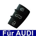 3tasten llave del coche TECLADO TECLAS goma para AUDI A3 A4 A5 A6 A8 Repuesto