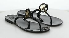 J38 MSRP $98 Women's Size 8 Tory Burch Mini Miller Black PVC Thong Sandal