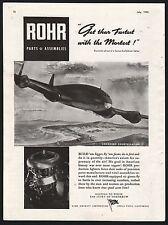 1943 WWII LOCKHEED Constellation WW II WW2 Rohr  Aircraft Parts AD