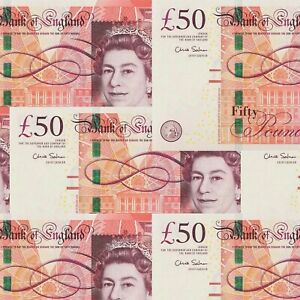 1 Sheets Of £50 Note Birthday Wrapping paper, Funny Gift Wrap,Large Sheet