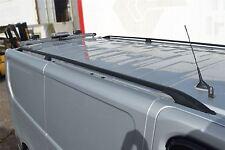 To Fit 2014+ Renault Trafic SWB Black Aluminium Roof Rails Rack Bars Metal