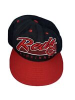 Cincinnati Reds '47 Forty Seven Brand SnapBack Hat Black Red Wool Blend MLB