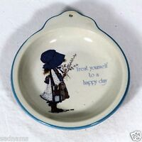 Vintage Holly Hobbie Treat yourself to a happy day Dish / wall hanger