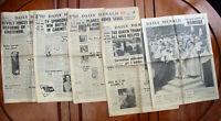 5 Old 1953 Daily Herald Newspapers - Queen Elizabeth II Coronation