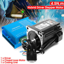 NEMA34 4.5N.m High Speed 86 Closed Loop Motor + Stepper Driver HSS86 Coding Line