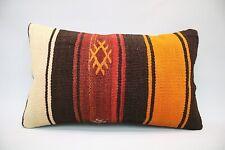 Kilim Lumbar Pillow, 12x20, Vintage Pillow, Throw Pillow, Accent Pillow