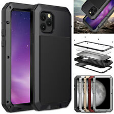 iPhone 11 Pro Max Waterproof Shockproof Protect Metal Case Cover Tempered Glass