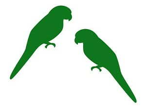 Parrot Decal 2 Pack - Silhouette Bird Stickers - Choose Color