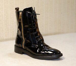 1800$ LOUIS VUITTON LV Macadam Ranger lace up combat boots 38-38.5 us7.5-8 uk5.5