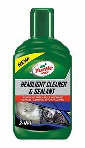 Turtle Wax 53146 Headlight Cleaner & Sealant Liquid Increases Brightness 300Ml