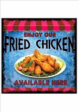 American Vintage Style Diner Sign Cafe Sign Chicken Retro Style  Kitchen Sign