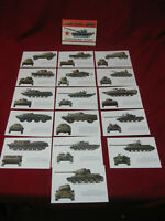 Lot of 16 Original Russian Armored Vehicle ID Cards