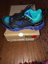New Girls Reebok Sneakers Black Teal Purple Zigkick 13.5 13 1/2 Retail $55