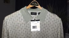 NEW Claiborne Short Sleeve Knit, Beige, $59.50 Retail (Men's M)- NEW WITH TAGS