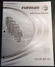 2008 EVINRUDE E-TEC 115 HP 60 DEGREE V4 PARTS MANUAL P/N 5007517  (504)