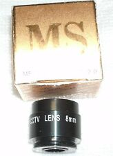 "MS-9780, FixFocus 8.0mm, 1/3"", F2.0. CS-Mount CCTV Lens. New in box"