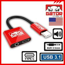 USB-C to AUX 3.5mm Adapter Charger Headphone Audio Jack Samsung Galaxy S8 S9 S10