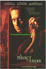 A PERFECT MURDER MOVIE POSTER 27x40 GWENETH PALTROW