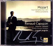 Renaud CAPUCON Signiert MOZART Violin Concerto 1 3 Concertante TAMESTIT LANGREE