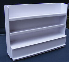 1:12 Scale White Painted Shop Display Shelf Unit Dolls House Miniature Accessory