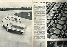PUBLICITE ADVERTISING  1957   SIMCA ARIANE  ( 2 pages)