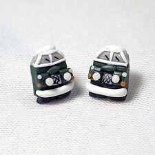 landrover stud earrings green handmade glow in the dark head lights