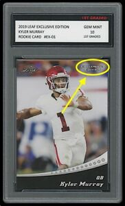 KYLER MURRAY 2019 LEAF EXCLUSIVE EDITION 1ST GRADED 10 ROOKIE CARD RC CARDINALS