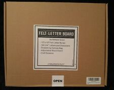 Changeable Felt Letter Board 10x10 inch Oak Frame with Black Felt - Included A