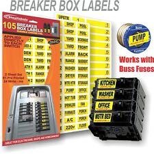 "Universal Circuit Breaker Decals for Breaker Box Switches ""Applies to Switch"""