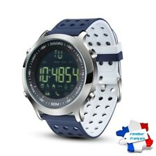 Montre Connectée Bleu/blanc Smartwatch Bracelet étanche Bluetooth Android Apple