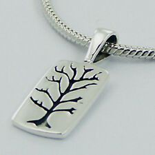 Silver Rectangular Tree of Life Pendant Sterling Silver 925 Best Deal Jewelry