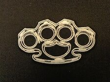 BRASS KNUCKLES EMBROIDERED PATCH FUNNY SAYING