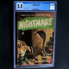 NIGHTMARE #3 (St. John 1952) 💥 CGC 2.5 C-OW 💥 CLASSIC PRE-CODE PAINTED COVER!