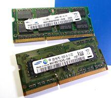 4GB Laptop RAM Lot of 2x 2GB Samsung PC3-10600S DDR3 SODIMM Memory Modules