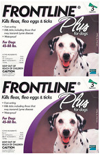 FRONTLINE Plus for Dogs Flea and Tick Medicine Large Purple Box 6 Month Supply