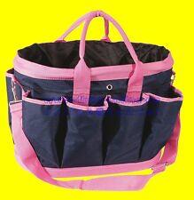 PFIFF 100657-111 Putztasche Pferdeputztasche Putzbeutel groß blau/pink Pferde