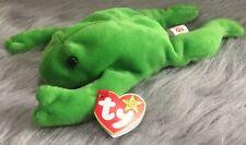 Rare Legs The Frog Beanie Baby 1993 Errors AUTHENTIC! PVC Pellets Mint