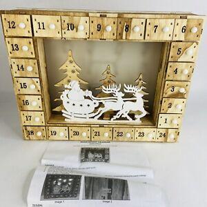 Avon Wood Advent Calendar Countdown to Christmas Lights Up New