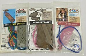 Vintage 1992 Arrow Leather Craft Kit- Choose Design-Keys, Bracelet, Comb Case