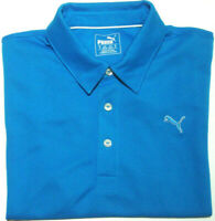 PUMA MENS SZ MEDIUM BLUE SHORT SLEEVE GOLF POLO SHIRT FREE POSTAGE