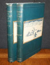 THROUGH THE HEART OF ASIA OVER THE PAMIR TO INDIA BY BONVALOT - 2 VOL. HC 1889