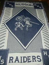 HUDSON.WISCONSIN.HHS.RAIDERS.HORSE.WOVEN AFGHAN THROW BLANKET
