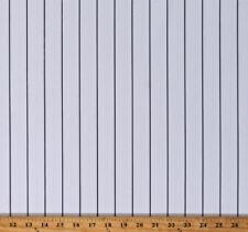 "Athletic Jersey White w/ Charcoal Pinstripe 60"" Baseball Stripe Fabric D330.51"
