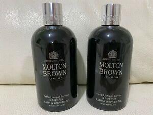Molton Brown 2 x 300ml Fabled Juniper Berries & Lapp Pine Bath & Shower Gel NEW