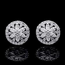 14k White Gold 2 00ct Round Diamond Fashion Earrings